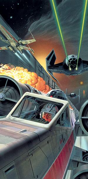 Komar Fototapete Star Wars Raumschiffe Laser