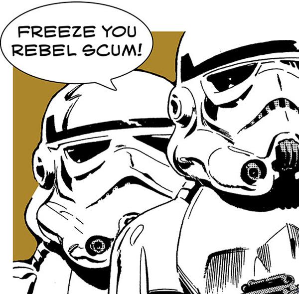 Komar Fototapete Wandbild Wanddekoration Star Wars Stormtrooper freeze you rebel scum