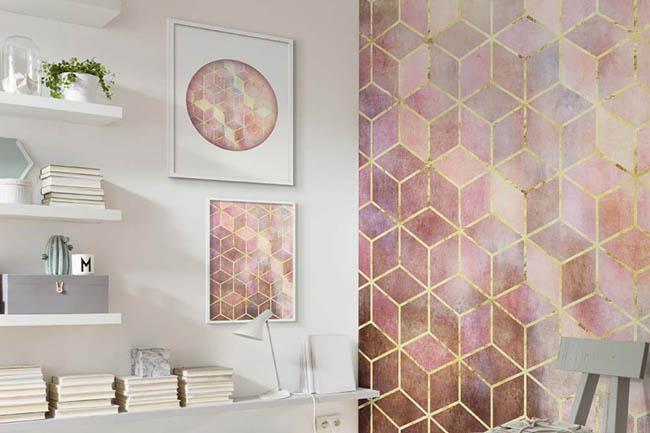 Wandbilder mit abstrakten Mustern und geometrischen Formen