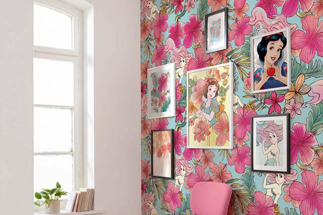 Wohnen wie im Märchen mit Prinzessinnen Wandbilder