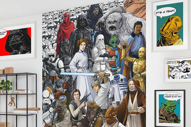 Star Wars Wandbilder: Die Macht hält Einzug im Zuhause