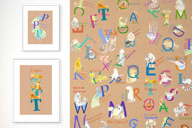 Mit den Alphabet Wandbildern wird Lesenlernen zum Kinderspiel