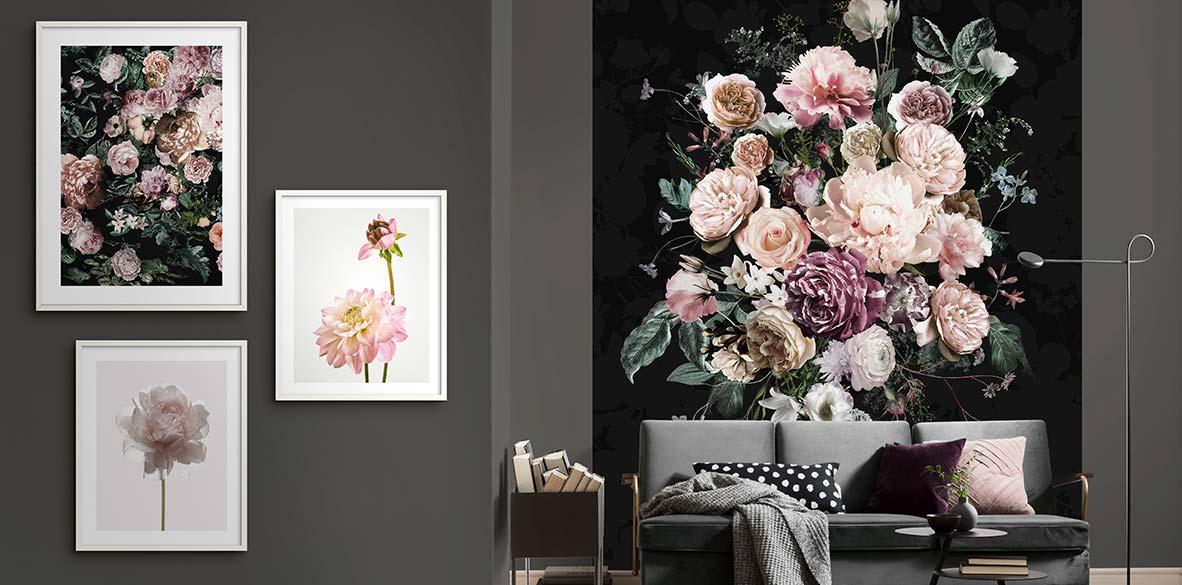 Wandbilder mit Natur-Motiven: Blumen, Blätter und Pflanzen für die Wand