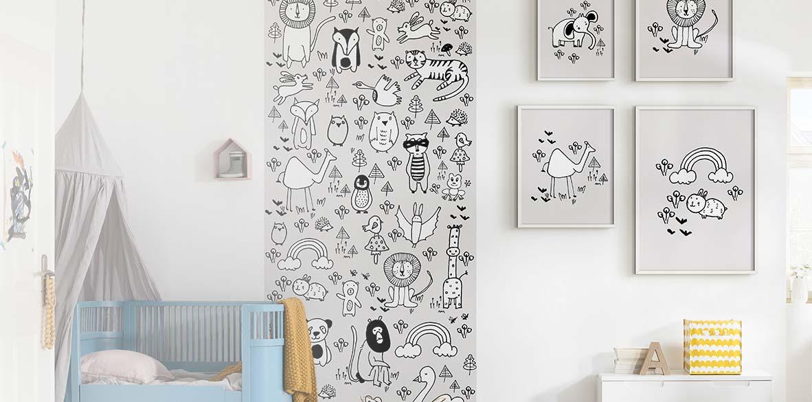 Liebevolle Kinder Wandbilder für die Kleinen