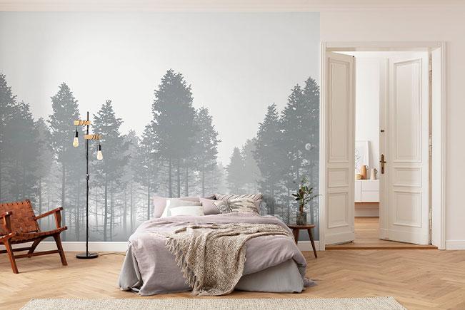Paradiesische Wandtattoos über dem eigenen Bett