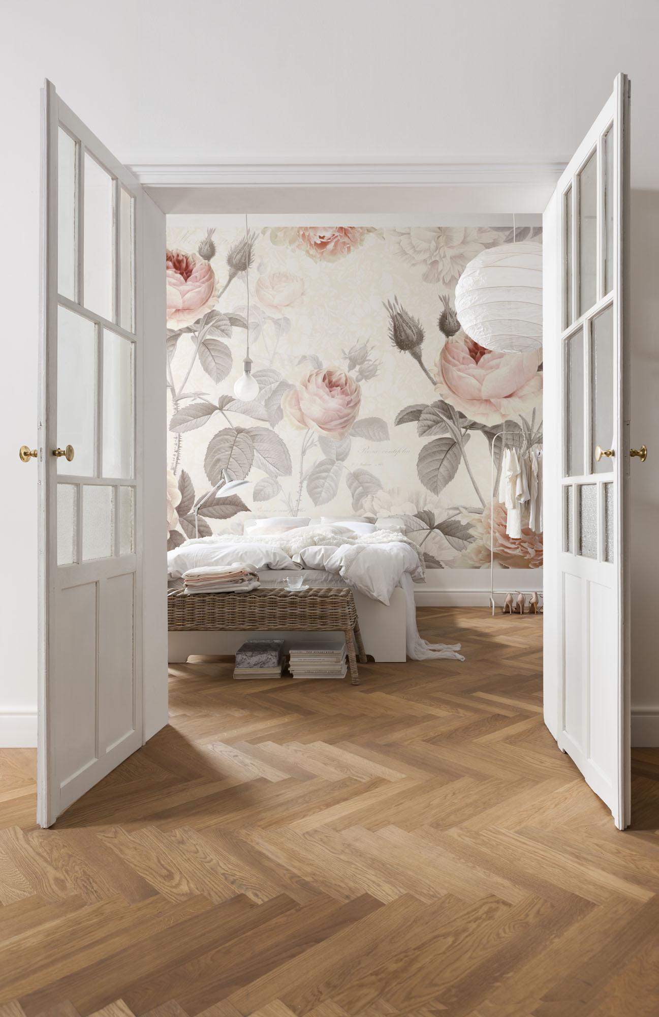blog romantische fototapeten mit floralen motiven. Black Bedroom Furniture Sets. Home Design Ideas